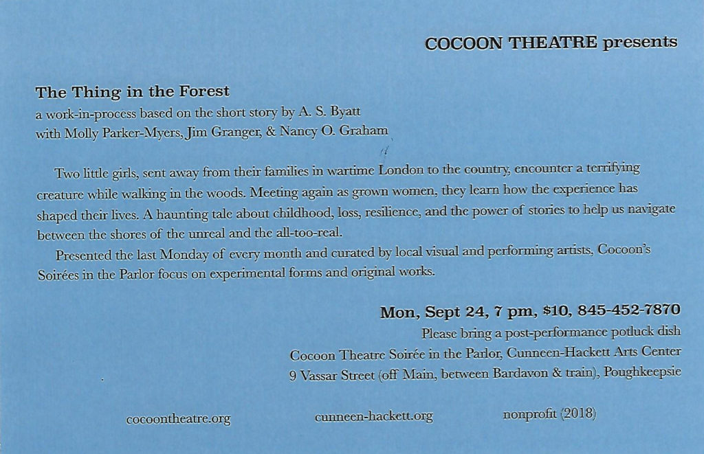 The Thing In The Forest Cuneen Hackett Arts Center